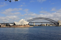 View of the Sydney Opera House and the Sydney Harbour Bridge (Gerald (Wayne) Prout) Tags: sydneyoperahouse sydneyharbourbridge gardenisland sydneyaustralia nsw newsouthwales australia prout geraldwayneprout canon canoneos60d eos 60d digital dslr camera canonlensefs18135mmf3556is lens efs18135mmf3556is photographed photography architecture building structure therocks sydney city harbour bridge steelarchbridge arch steel operahouse