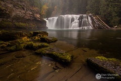 Lower Lewis Falls (Dan Sherman) Tags: autumn trees fall water leaves river waterfall washington unitedstates pacificnorthwest lewisriver giffordpinchot giffordpinchotnationalforest lowerlewisriverfalls lowerlewisfalls pacificnorthwestwaterfall
