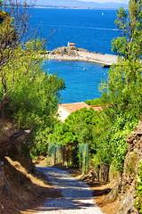 Collioure 139 en descendant du Fort Saint-Elme (paspog) Tags: france port collioure chapelle pyrnesorientales saintvincent chapellesaintvincent languedocroussilon rooussillon