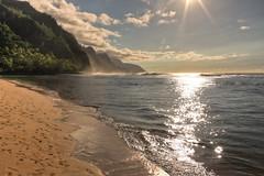 The Napali Coast (MarkE_T) Tags: beach hdr hawaii holiday landscape pentakk5 smcpentaxda1645mmf4edal cliffs kauai