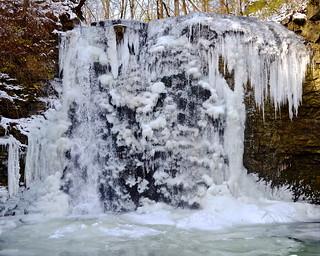 Frozen Hayden Falls