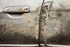 A última batalha (Alexandre AC) Tags: honda chuva porta terra fit marcas acidente riscos br116 maçaneta destruída amassada