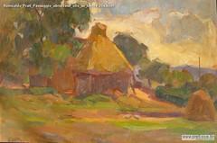 Romualdo Prati Paesaggio abruzzese olio su tavola 25x36cm
