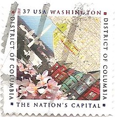 USA Stamp honoring the District of Columbia 1800-2000 (sftrajan) Tags: usa districtofcolumbia unitedstates stamp scanned timbre postage bicentennial postagestamp philately sello briefmarke  francobollo