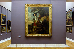 van Dyck, Charles I at the Hunt, gallery view (profzucker) Tags: portrait england art english history king louvre van baroque flemish arthistory flanders vandyck anthonyvandyck charlesi englishcivilwar