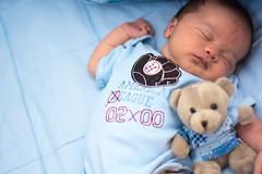 (Caio Doll) Tags: bear new blue light baby 50mm soft teddy bebe 18f caiodoll