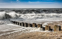 Frothy (James Waghorn) Tags: england sigma pebbles foam ultrawide lightroom froth sigma1020 seaspary topazadjust blinkagain