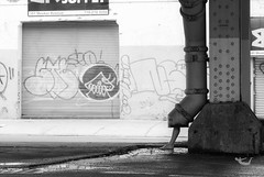 (moorehart) Tags: street travel urban blackandwhite strange walking photography graffiti weird funny candid exploring documentary bizarre freelance moorehart