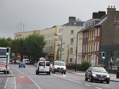 The national flag of Ireland flying at the spot where Thomas Francis Meagher flew the Irish Tricolour for the first time on March 7th 1848 in Waterford City (RYANISLAND) Tags: county city ireland irish history europe european crystal country north medieval historical northern vikings viking waterford province munster northerneurope republicofireland waterfordireland therepublicofireland cityofwaterford houseofwaterfordcrystal {vision}:{outdoor}=0969 {vision}:{street}=0813