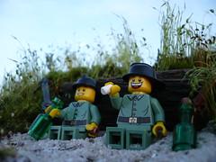 Off Duty (Rebla) Tags: world 2 outside war lego outdoor duty wwii off ww2