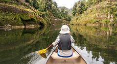 Me canoeing (NettyA) Tags: newzealand water reflections river rocks canoes nz canoeing daytwo 2014 whanganuiriver whanganuijourney sonynex6 nettya