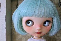 aqua lavender eyes - handpainted.