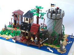 Small Medieval Trading Post (2) (lcpulv) Tags: sea castle beach brasil fan village post lego adult medieval creation age trading diorama lug moc kingdoms pulvino lcpulv