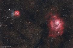 M8 Lagoon nebula & M20 Trifid nebula (Salvatore Cozza) Tags: sky lagoon nebula m8 astrophoto m20 trifid