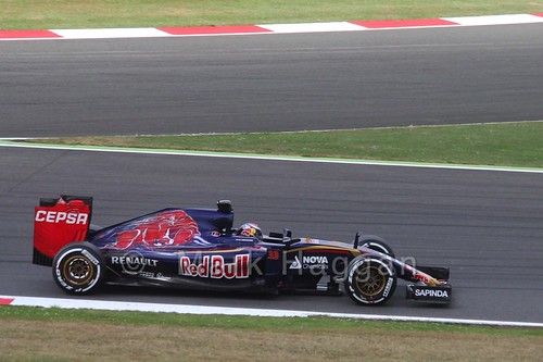 Max Verstappen in Free Practice 3 at the 2015 British Grand Prix at Silverstone