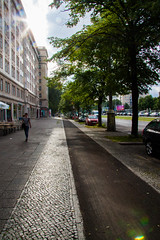 The Infinite Street (Niels A) Tags: trees light sun berlin alley rays karlmarxallee import20150725