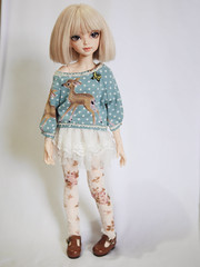 New SMPDoll outfit (lilyanneva) Tags: brown love alpaca spring eyes head bob fringe line full deer event wig blonde moe jumper bjd sarang fairyland mako msd 2014 mline minifee smpdoll