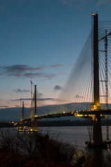 The Queensferry Crossing (Graham P Snelson) Tags: bridges bridge scotland sunset sky landscape landmark forth construction lights longshutter