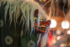 Night Festival Lion (aeschylus18917) Tags: danielruyle aeschylus18917 danruyle druyle ダニエルルール japan 日本 saitama 埼玉県 hanno 飯能市 festival 祭り 飯能祭り 85mm night 祭 mask matsuri pxt lion 面