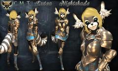 EC-Lutea Nightshade Cobalt Blue Kemono (EC-Eleran's Craft) Tags: ec crafts armor outfit fantasy magic warrior knight wizard mage mesh 3d zbrush substance painter sl secondlife gacha fgc armory kemono furry neko