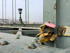 Padlocks (VillaRhapsody) Tags: bridge budapest hungary padlocks chainbridge danube love symbol symbolic