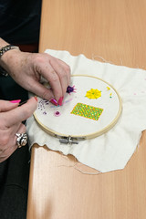 DSC_0715 (surreyadultlearning) Tags: embroidery sewing adulteducation surrey camberley art craft tutor uk painting calligraphy photography