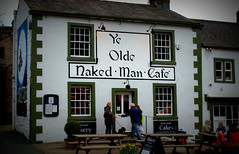 Ye Olde Naked Man Cafe, Settle (Tony Worrall) Tags: england northern uk update place location north visit area county attraction open stream tour country welovethenorth settle yorkshire yorks scene scenery cafe architecture building built past town white quaint windows olde naked man yeoldenakedmancafe sign