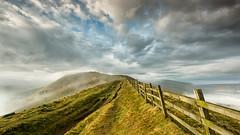 The Great Ridge (davepsemmens) Tags: peaks mamtor mist inversion fence ridge cloud