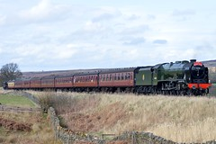 46100 Royal Scot & 45407 The Lancashire Fusilier at Moorgates 30/3/17 (CraigPatrick24) Tags: lms londonmidlandscottish black5 royalscotclass moorgates northyorkshiremoorsrailway nymr railway rail train steam locomotive transport thelancashirefusilier royalscot 45407 46100 britishrail br