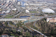 New NB I-5 bridge over I-705 in Tacoma (WSDOT) Tags: cm tacoma hov construction interstate5