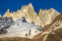 Fitzroy Flank (robertdownie) Tags: sky mountains blue rock snow mountain ice patagonia argentina layers fitzroy monte massif