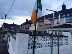 A New Clothesline and a Clean Grave (solas53) Tags: ireland graves clotheslines houses random