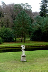 Statue (Sparky the Neon Cat) Tags: europe uk united kingdom gb great britain england north yorkshire studley royal gardens water park statue