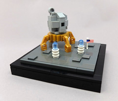One tiny leap for mankind... (2 Much Caffeine) Tags: lego moc microscale apollo lunarmodule