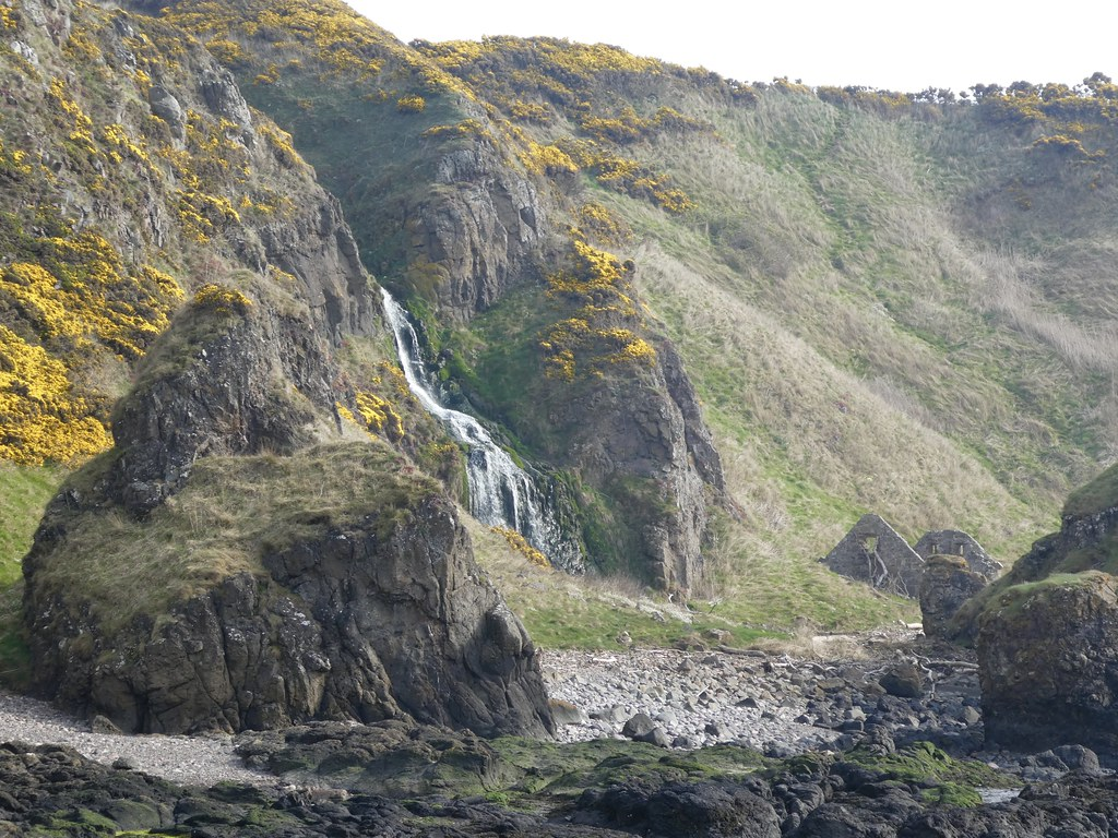 St Cyrus Beach Waterfall