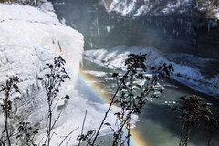 winter rainbow (jojoannabanana) Tags: bokeh cold colorful frozen geneseeriver ice letchworthstatepark mist rainbow river snow water westernnewyork winter wny