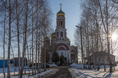 The Church of the Ascension. (Oleg.A) Tags: spring landscape cathedral church nature outdoor rural dome snow morning summer byzantine orthodox architecture bell penzaregion russia spassk villiage catedral landscapes outdoors penzenskayaoblast ru