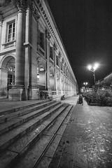Bordeaux Grand theatre (coralieblanco) Tags: 6d canon canon1635 1635mm urbain urbanisme paysage de nuit night light lumière perspective ligne fuite noir et blanc black white blackandwhite