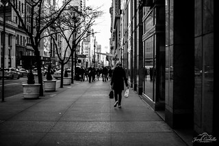 Walking the streets of Manhattan.
