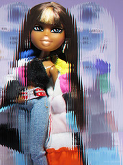 Bout' To Get Attention From A Grown Up (PancakeBoss) Tags: bratz doll birthday bash sasha moments cool effects or what 3d invert blur loves it mga 2005