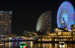 THREE TOPS (TK's photography) Tags: dsc zeiss travel bayside carlzeiss yokohama night asia colors sony cybershot landmark sonyrx1 japan twilight