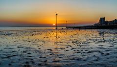 Looking West.. (johngregory250666) Tags: thames sunset river london estuary beach southend sea uk england spring march imagesofengland nikon d5200 nikkor camera tide tidebreak sand view horizon orange yellow blue ocean essex