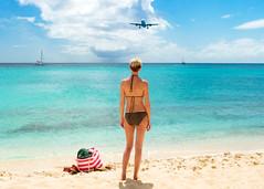 Alone and Loving It (W.L.M.II) Tags: mahobeach airplanebeach beach princessjulianainternationalairport saintmaarten stmartin alone