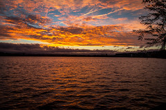 Sunrise over Lake Burley Griffin (Andy Peyton) Tags: canberra sunrise lake burley griffin orange water clouds