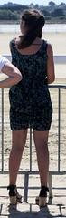 206 (SadCire) Tags: woman frau femme mujer girl thigh calves legs miniskirt minidress skirt dress heels street candid sexy teen wedges