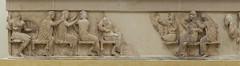 """Siphnian Treasury, I – East Frieze (Egisto Sani) Tags: eos thetis teti ares aphrodite afrodite artemis artemide apollos apollo zeus athena atena hera """"high relief"""" frieze fregio archaic"""" """"proto arcaico"""" style stile period periodo archaic arcaico arcaica greek greca arte art marble marmo relief rilievo """" siphnian treasury"""" """"tesoro dei sinfi"""" phocis focide delphi delfi """"archaeological museum"""" """"museo archeologico"""""""