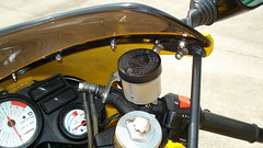 finished - new brake reservoir, lines (mgordonvegas8) Tags: laverda 668 sport ghost strike controls