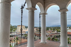 Taking a step back to enjoy the view (tquist24) Tags: california hdr nikon nikond5300 santabarbara santabarbaracountycourthouse architecture clouds courthouse geotagged sky tower vacation view unitedstates