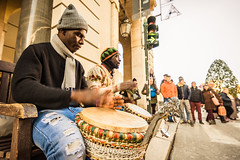 RITHM (Loris G.) Tags: street man artist africa rithm colors people motion