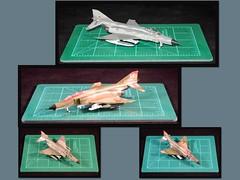 F-4E and F-4F IN 1/144 (krislagreen) Tags: turbocollage 1144 f4 scalemodel chicothegunfighter f4e f4f norm81 sea h